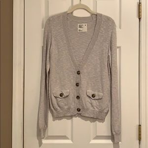 Gray American Eagle Sweater/cardigan with buttons